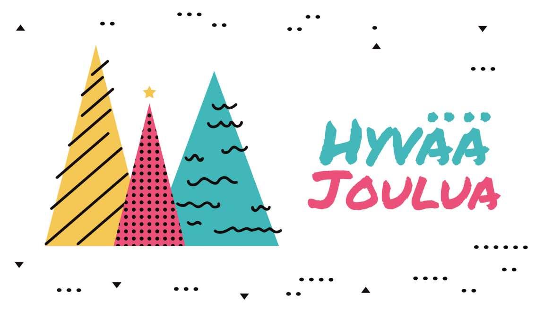 Toivotamme hyvää ja rauhallista joulua sekä menestystä ja valoisaa vuotta 2021!